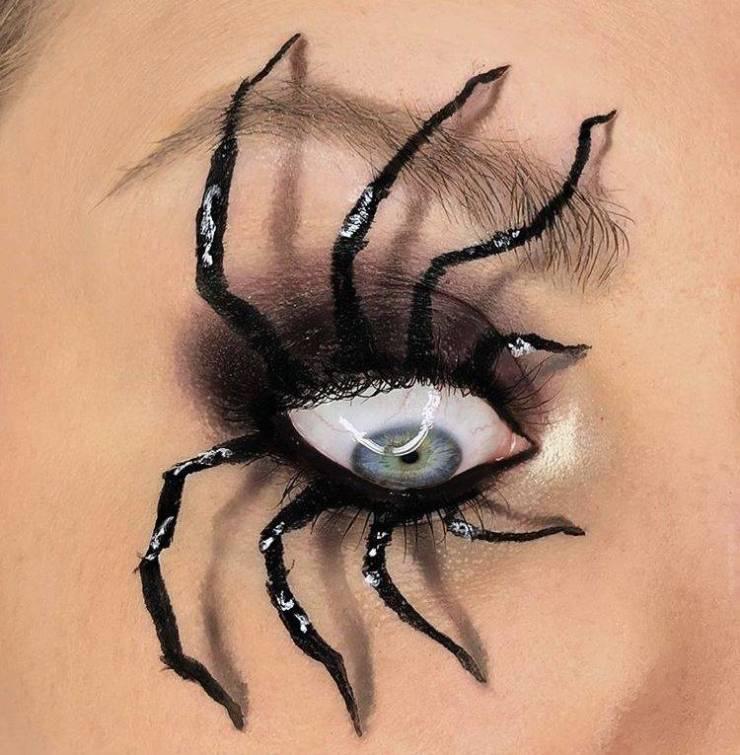 Макияж паук