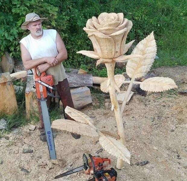 Цветок из дерева