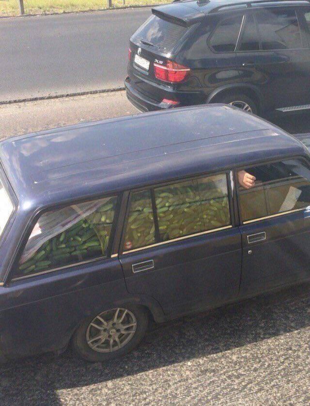 Полный автомобиль огурцов