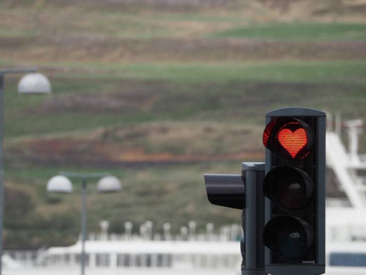 Светофор с сердечком