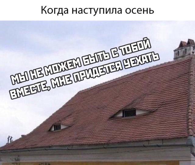 Крыша осенью