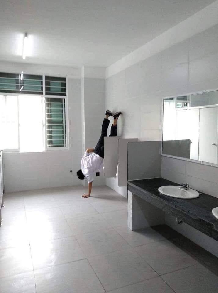 Странный поход в туалет