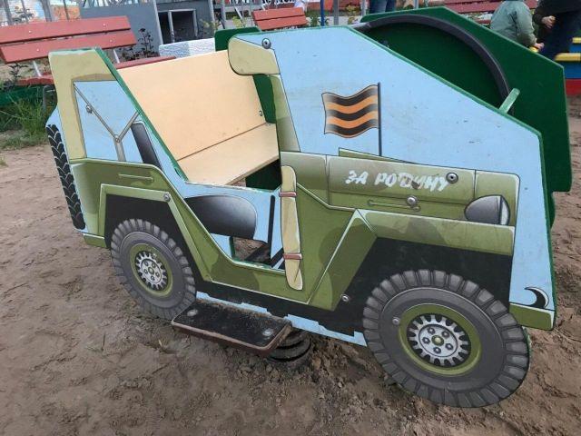 Нарисованная военная машина