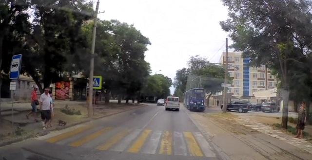 Пешеходный переход в Евпатории