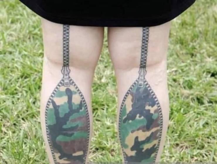 Татуировки на икроножных мышцах