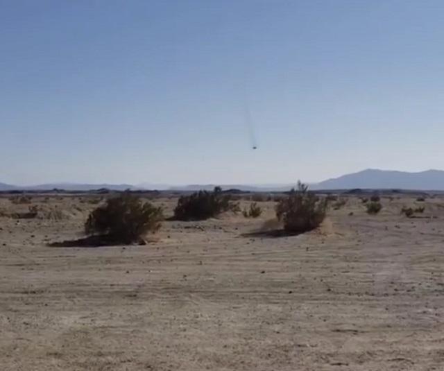 Крушение истребителя в Калифорнии
