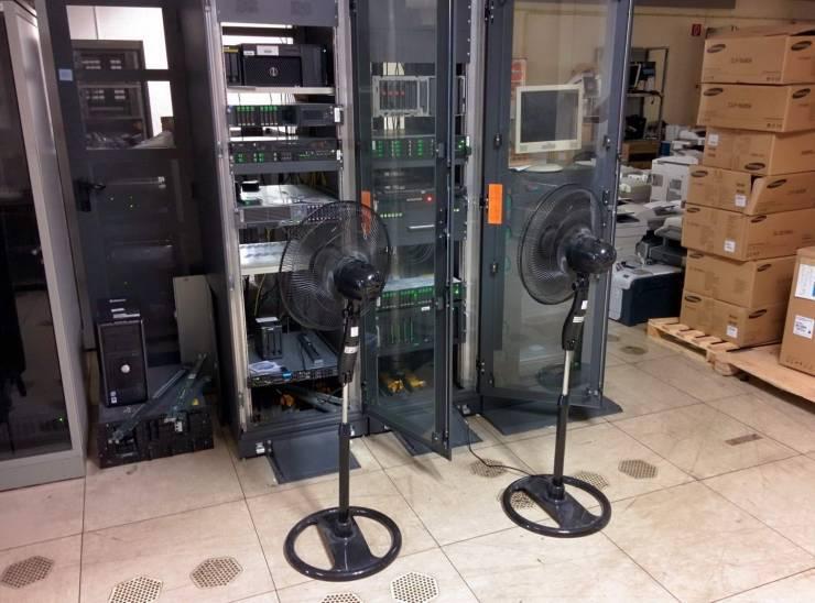 Охлаждение серверов при помощи вентиляторов