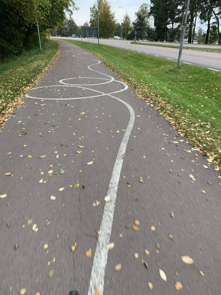 Странная разметка велодорожки