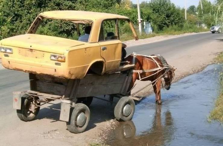 Повозка из автомобиля