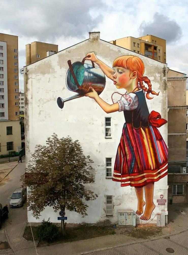 Граффити девочка