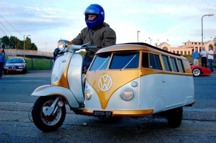 Мотоцикл в виде автобуса VW