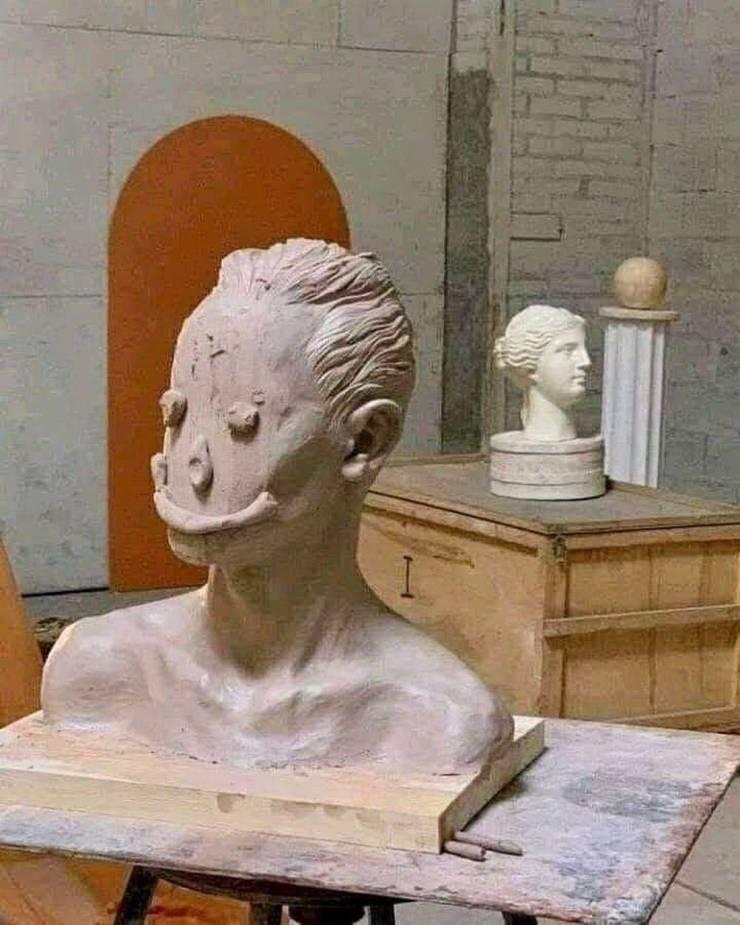 Скульптура лицо