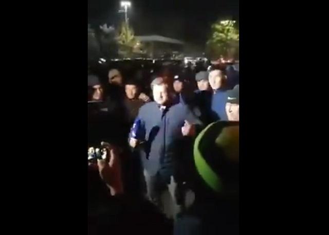 Журналист на митинге