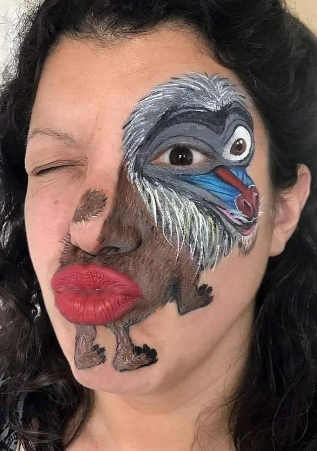 Рисунок обезьяна на лице