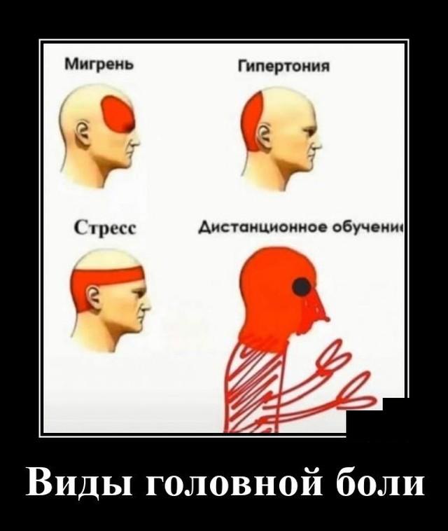Демотиватор про головную боль