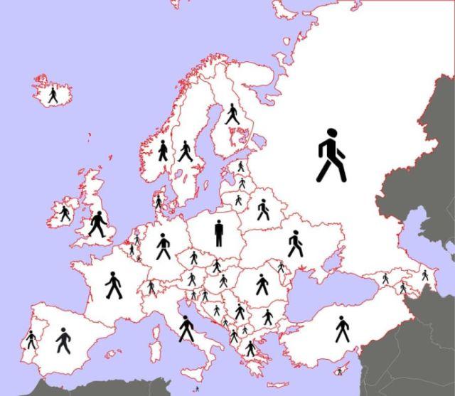 Как выглядят пешеходы на знаках разных стран