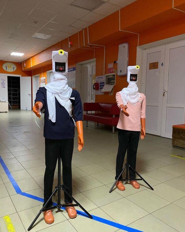 манекены в ростовской детской поликлинике