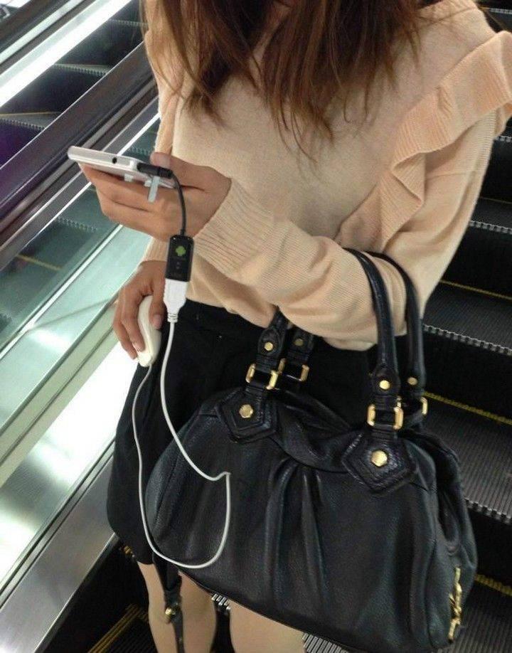 Подключила мышку к смартфону
