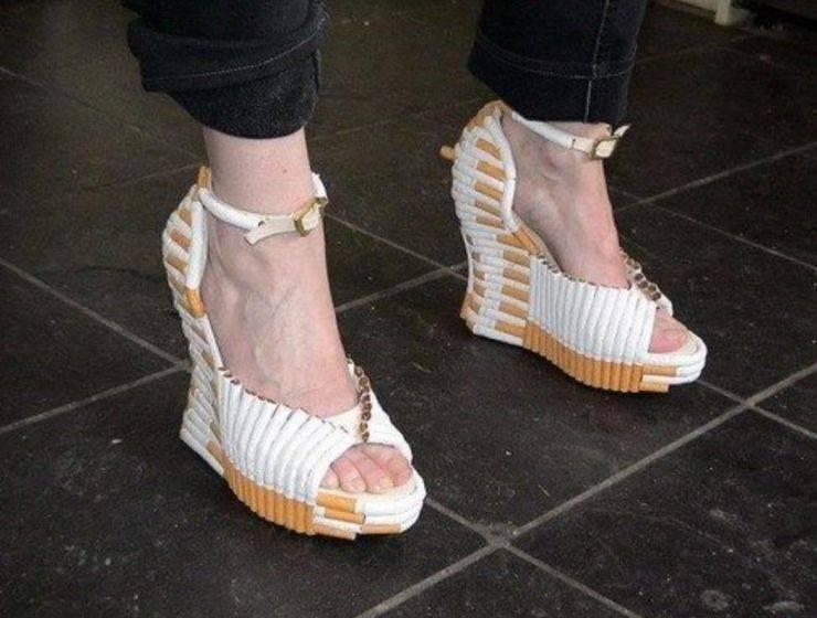 Туфли из сигарет