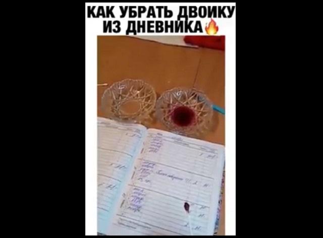Как убрать двойку из дневника