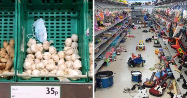Подборка снимков о свинском поведении в магазинах