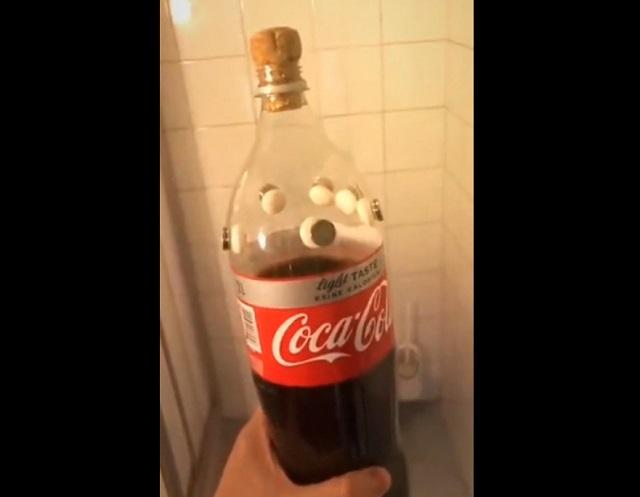 Эксперимент с ментосом и кока-колой