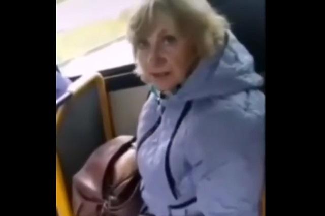 Скандал в троллейбусе