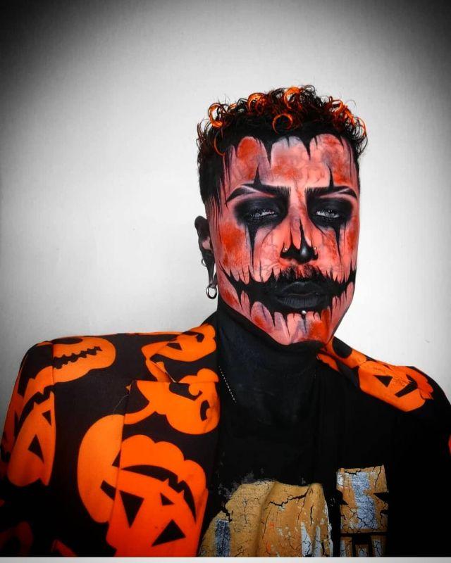 Филипп Ройер в костюме на хэллоуин