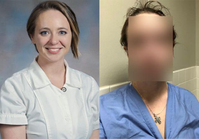 Медсестра Кэтрин Айви до и после работы в больнице