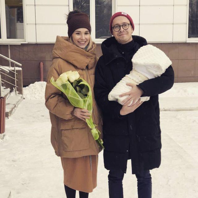 Дмитрий Банчуков с женой и сыном