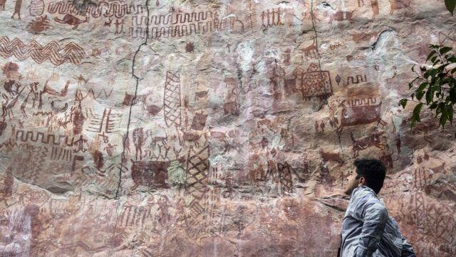 Наскальная живопись в лесах Амазонии