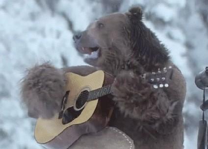 Медведь играет на гитаре