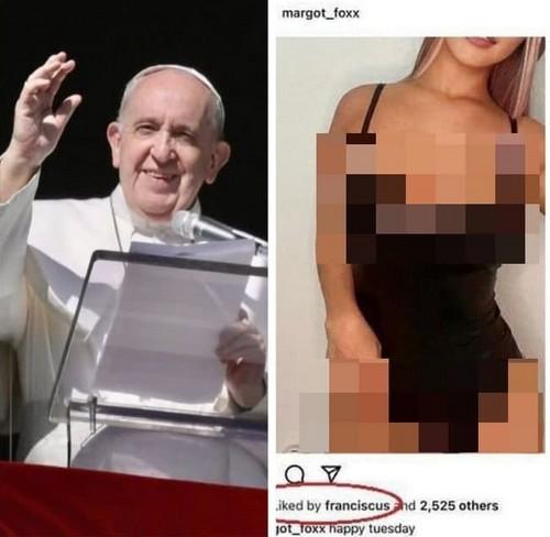 Папа Римский вновь лайкнул фото пышнотелой модели в Instagram (13 фото)