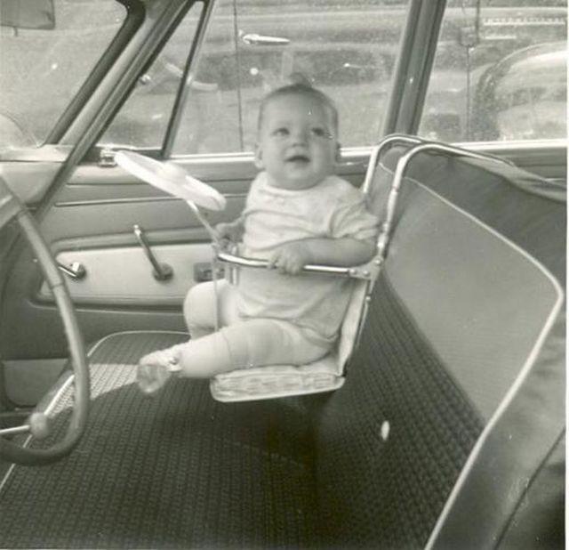 детское автокресло 60-х
