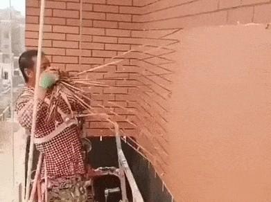 Покраска стен под кирпич
