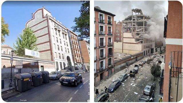 Взрыв в центре Мадрида