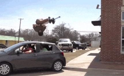 Прыжок через машину