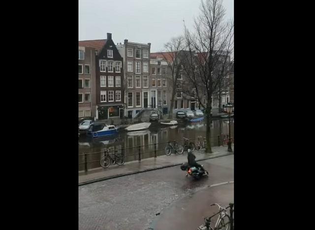 гололед в амстердаме