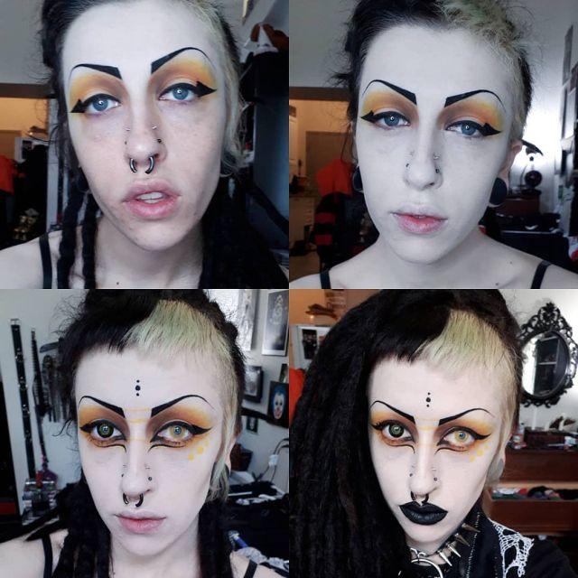 Эрин Вампирин показывает макияж