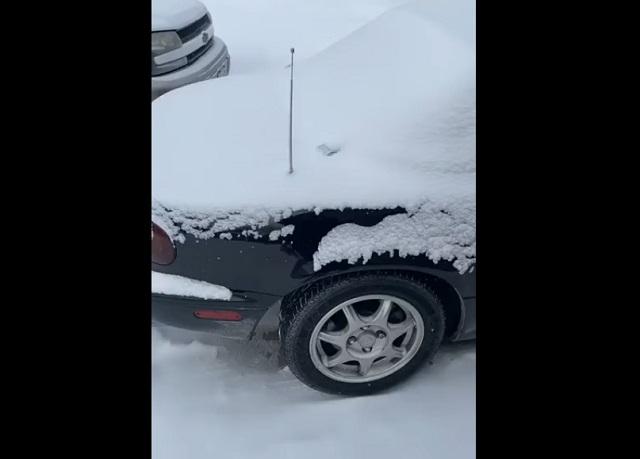 снег на машине