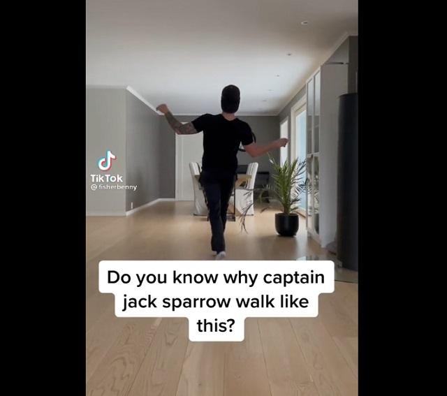 Походка Джека Воробья