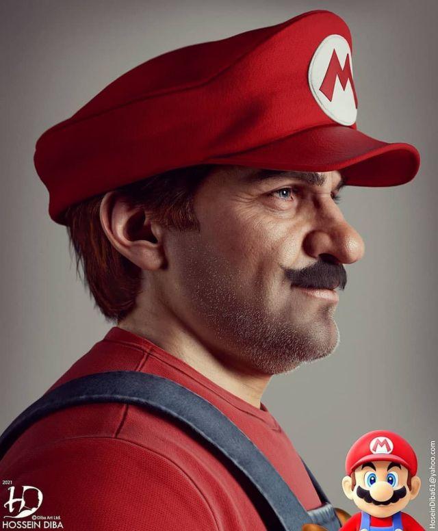 Супер Марио с современной графикой