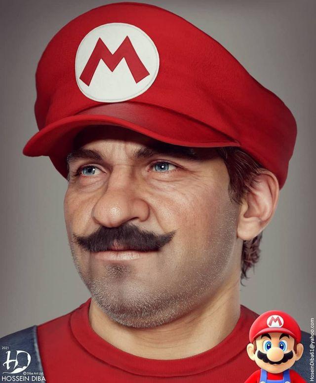 Супер Марио в анфас