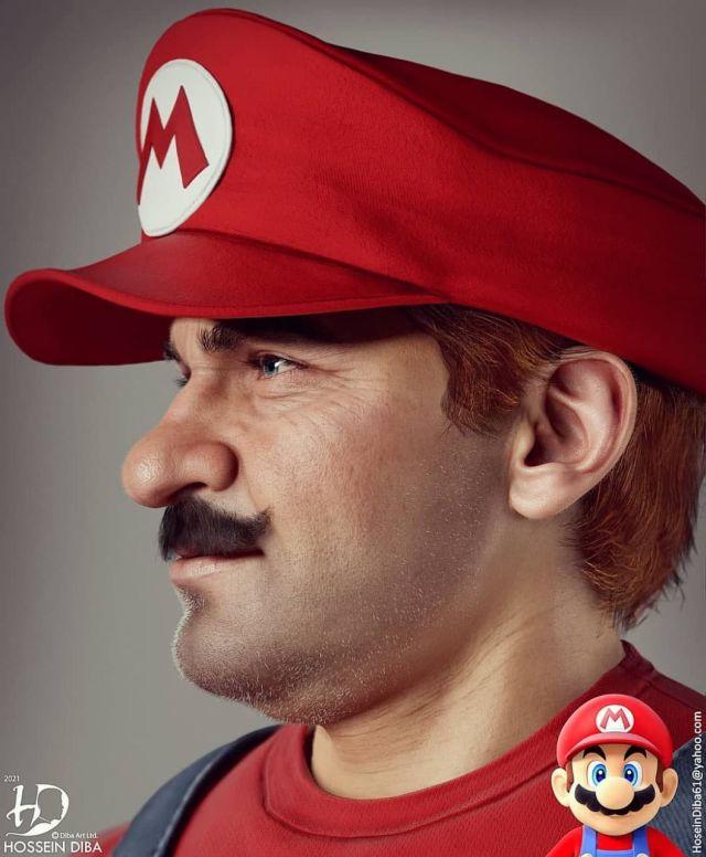 Супер Марио в профиль