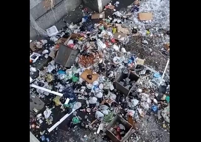 мусор за окном