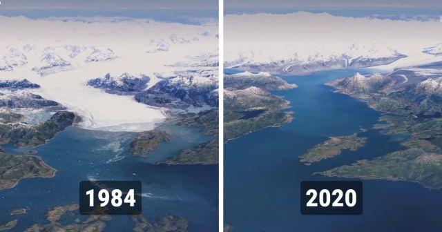 Google Earth:  как изменилась нашла планета с 1984 по 2020 год