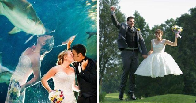 Забавные и провальные свадебные фотосессии