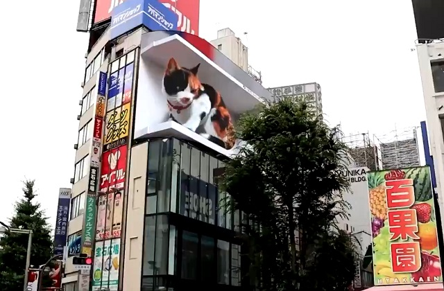 В Токио реклама вышла на новый уровень футуристичности