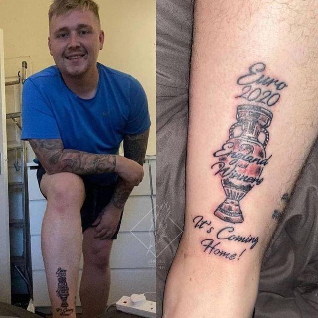 британец сделал татуировку