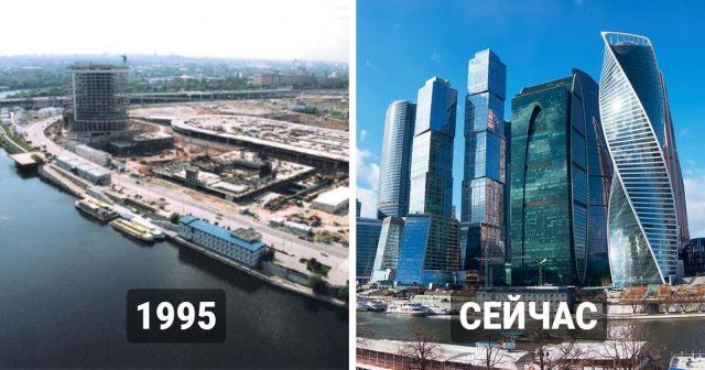 Знаменитые постройки до и после их появления